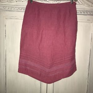 Linen Skirt by Will Smith Size 12 Detailed GUC